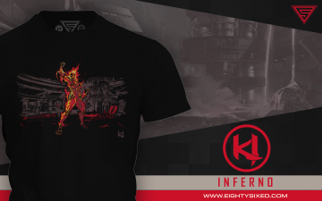"""Inferno"" T-Shirt Available From Eighty Sixed"